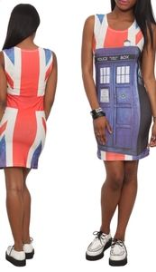 Doctor Who Her Universe TARDIS Union Jack Dress